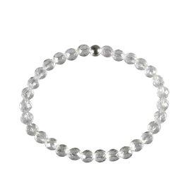 Bergkristal armband facet 18 cm | 6 mm kralen