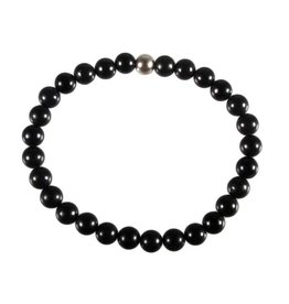 Obsidiaan (regenboog) armband 18 cm | 6 mm kralen