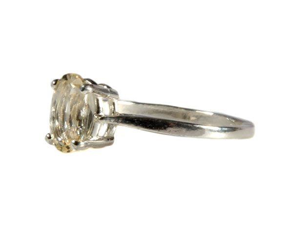 Zilveren ring labradoriet (goud) maat 15 1/2 | ovaal facet gezet 8 x 6 mm