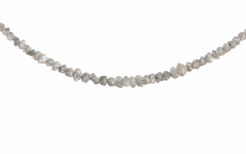 Zilveren ketting diamant (grijs) split