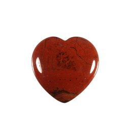 Jaspis (rood) edelsteen hart 3 cm