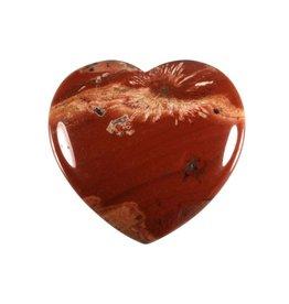 Jaspis (rood) edelsteen hart 4 cm