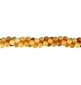 Aventurijn (geel) kralen rond 6 mm (streng van 40 cm)