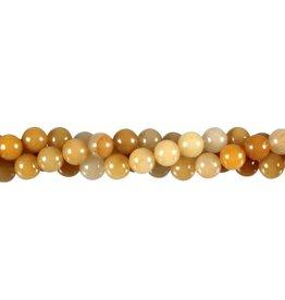 Aventurijn (geel) kralen rond 8 mm (streng van 40 cm)