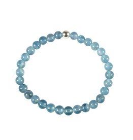 Aragoniet (blauw) armband 18 cm | 6 mm kralen