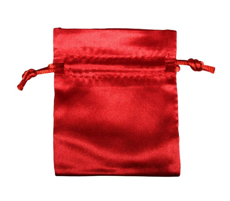 Buideltje satijn rood