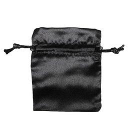 Buideltje satijn zwart