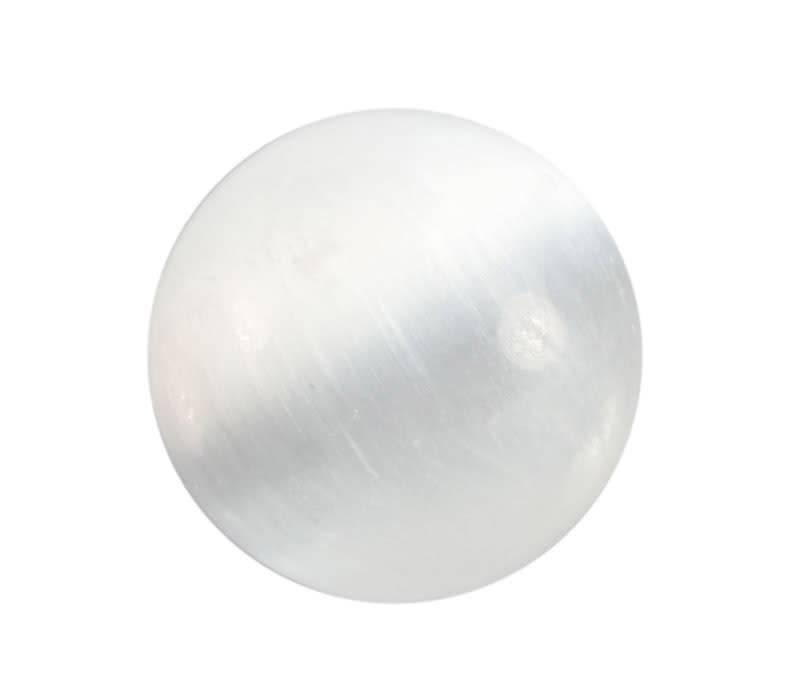 Seleniet edelsteen bol 45 - 50 mm