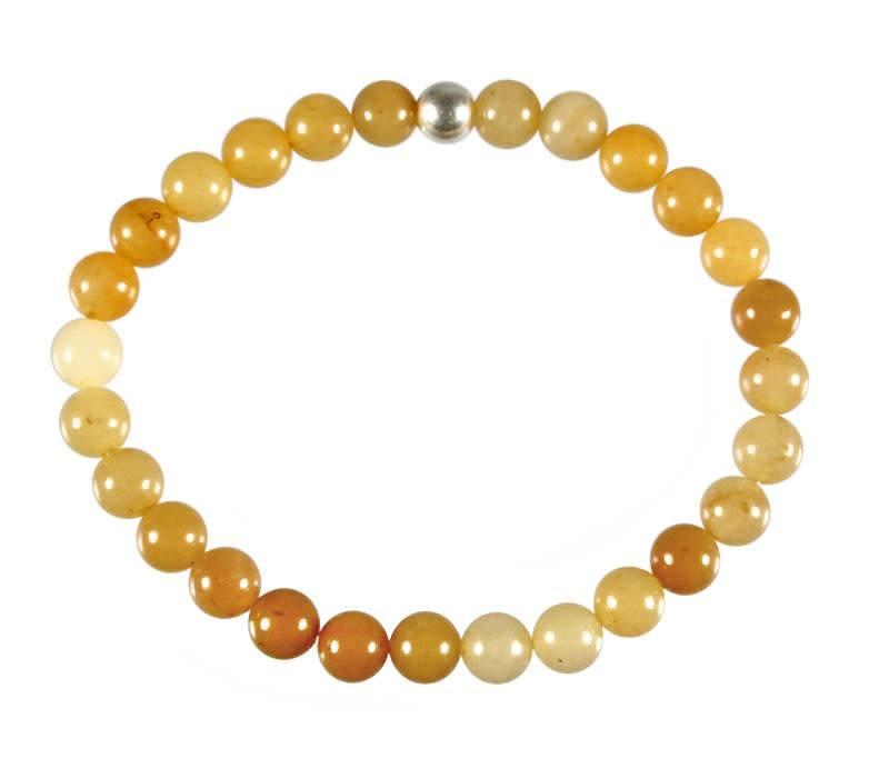 Aventurijn (geel) armband 18 cm | 6 mm kralen