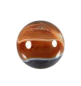 Carneool edelsteen bol 57 - 60 mm