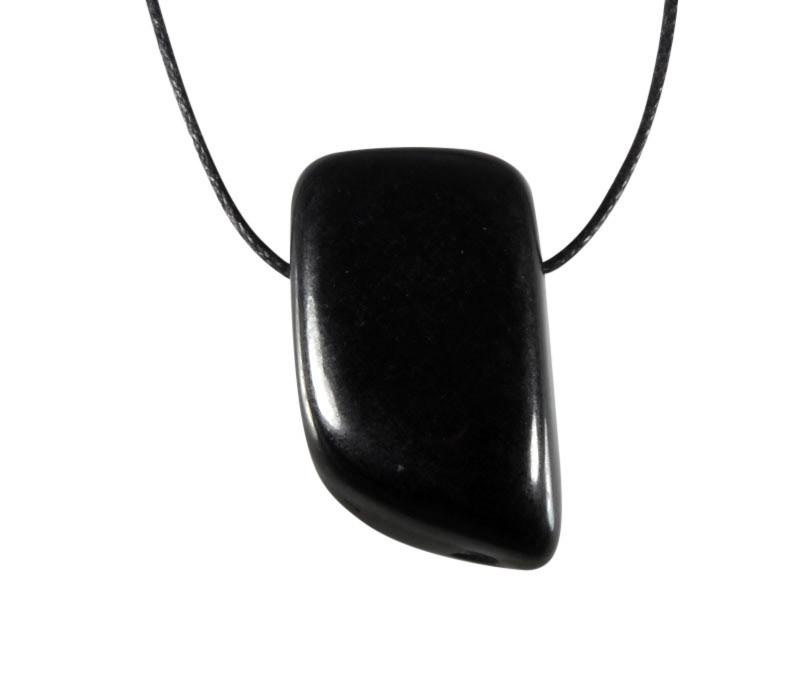 Jade (zwart) hanger doorboord