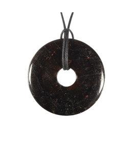 Toermalijn (bruin) of draviet hanger donut 3 cm