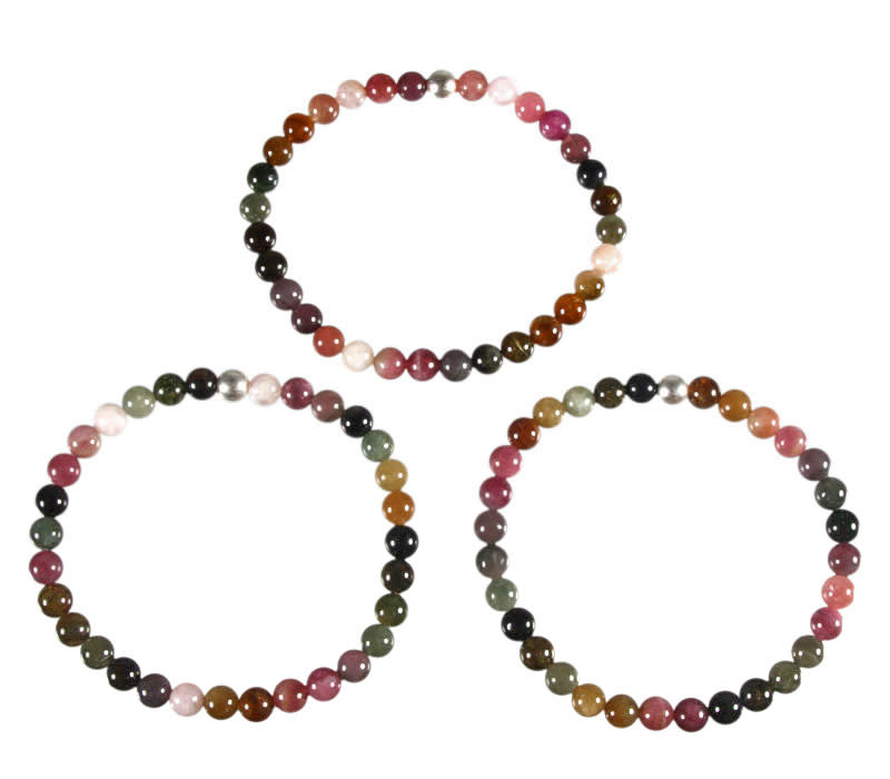 Toermalijn (multicolour) armband 18 cm | 6 mm kralen