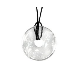 Bergkristal hanger A-kwaliteit donut 3 cm