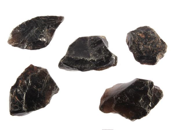Rookkwarts (Morion) ruw 25 - 50 gram