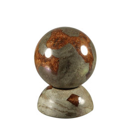 Glendoliet edelsteen bol met standaard 38 mm / 104 gram