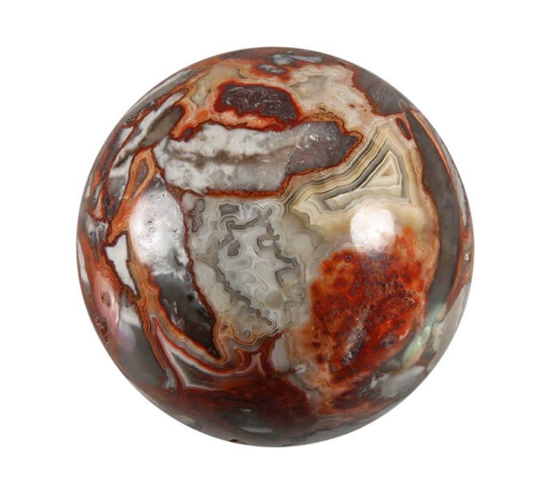 Agaat (kant) edelsteen bol 62 mm / 356 gram