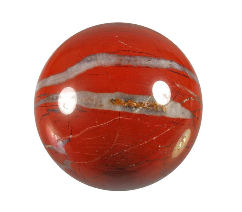 Jaspis (rood) edelsteen bol 61 mm / 327 gram