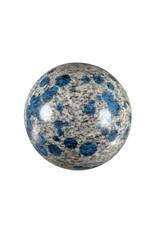 K2 jaspis (azuriet in graniet) edelsteen bol 64 mm / 376 gram