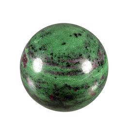 Robijn in zoisiet edelsteen bol 59 mm / 378 gram