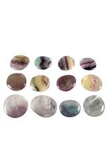 Fluoriet (multi) B-kwaliteit steen plat gepolijst