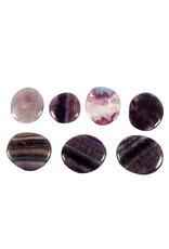 Fluoriet (paars) steen plat gepolijst