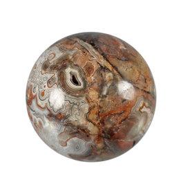 Agaat (kant) edelsteen bol 65 mm / 363 gram