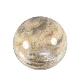 Maansteen (beige/grijs) A-kwaliteit edelsteen bol 54 mm / 218 gram