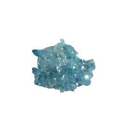 Aqua aura kwarts cluster 10 - 15 gram
