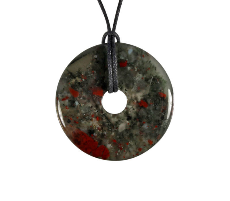 Jaspis (vulkaan) hanger donut 4 cm