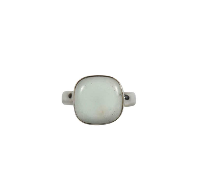 Zilveren ring albiet maat 18 | vierkant 1,2 x 1,2 cm