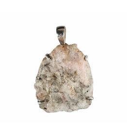 Zilveren hanger tugtupiet | ruw gezet 3,5 x 3 cm