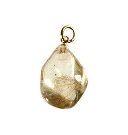 Labradoriet (goud) hanger met verguld oogje