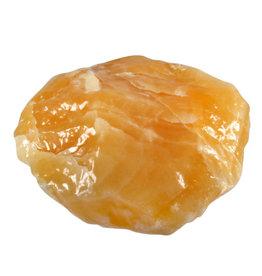 Calciet (oranje) ruw 11,5 x 11,5 x 5 cm / 877 gram