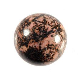 Rhodoniet (roze met zwart) edelsteen bol 40 mm