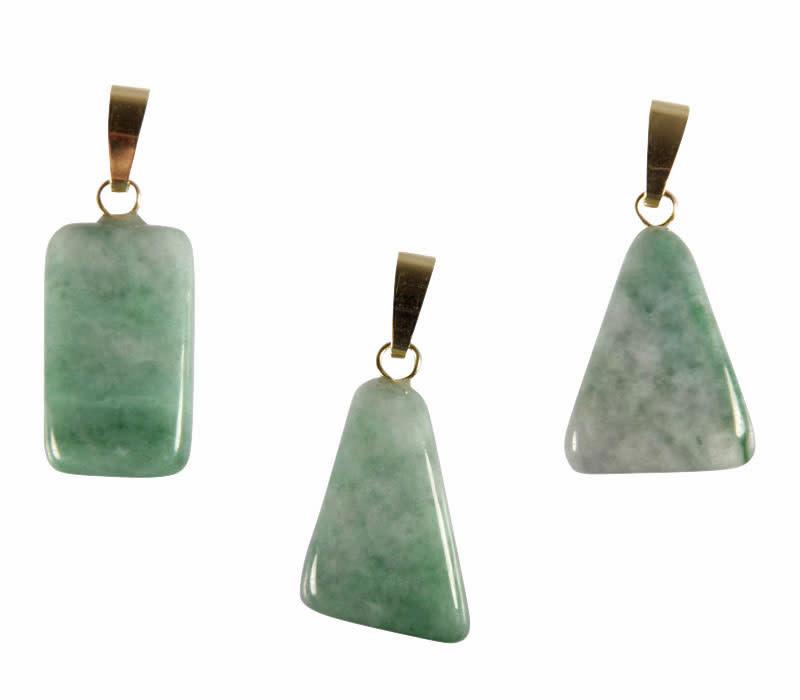 Jade (jadeiet) hanger met 14k gouden oogje