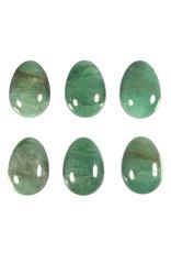 Aventurijn (groen) licht edelsteen ei 4,8 x 3,4 cm