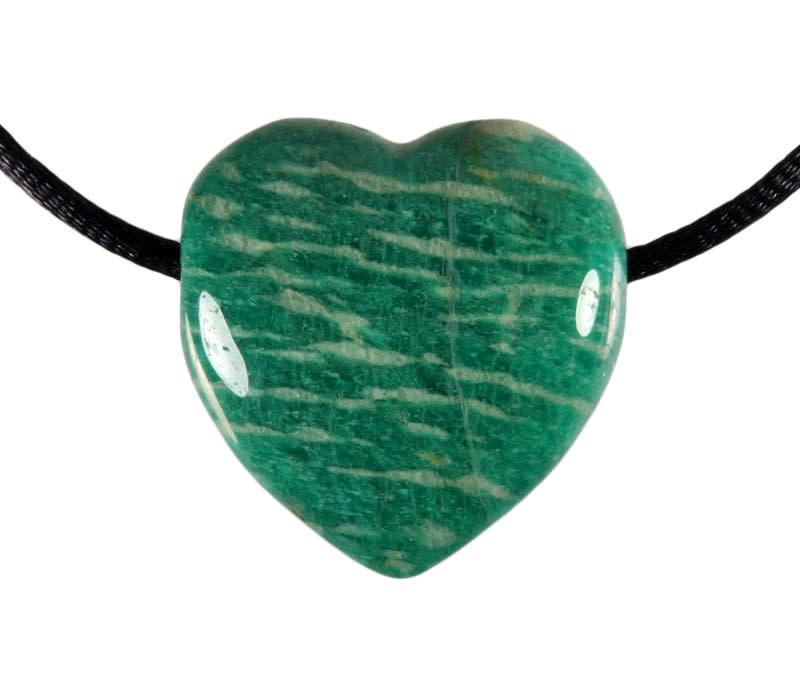 Amazoniet hanger A-kwaliteit hart doorboord
