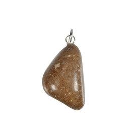 Fallen star stone hanger met zilveren oogje