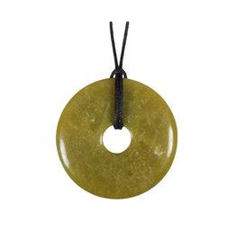 Jade (jadeiet) hanger donut 4 cm