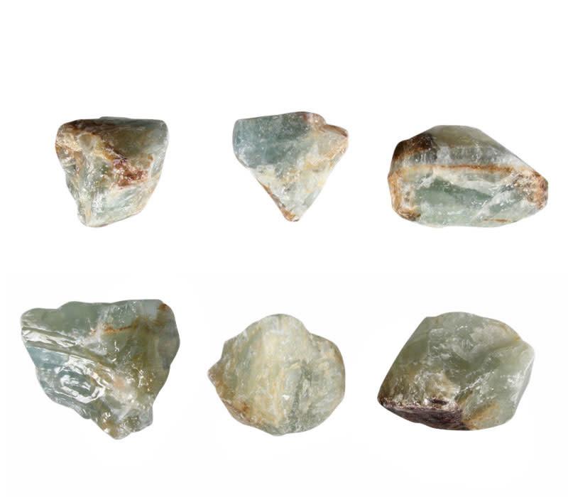 Aragoniet (blauw) ruw 25 - 50 gram