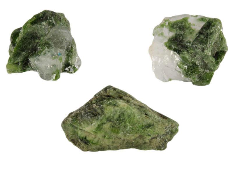 Diopsiet (groen) ruw 25 - 50 gram