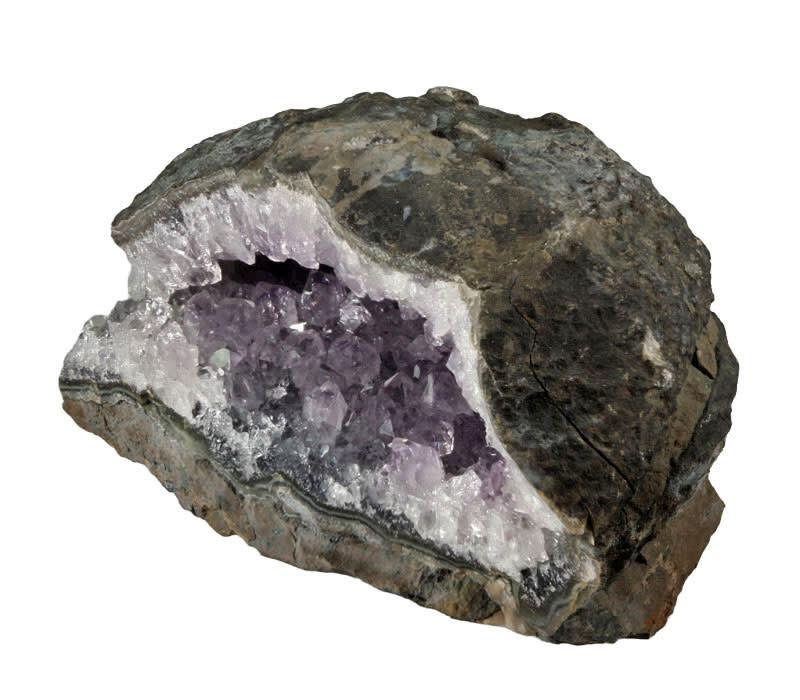 Amethist (licht) geode 15 x 9,5 x 8 cm / 1434 gram