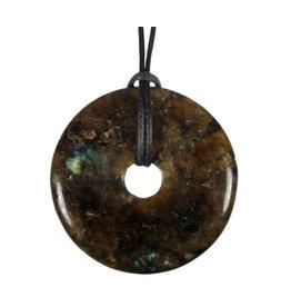 Labradoriet hanger donut 4 cm