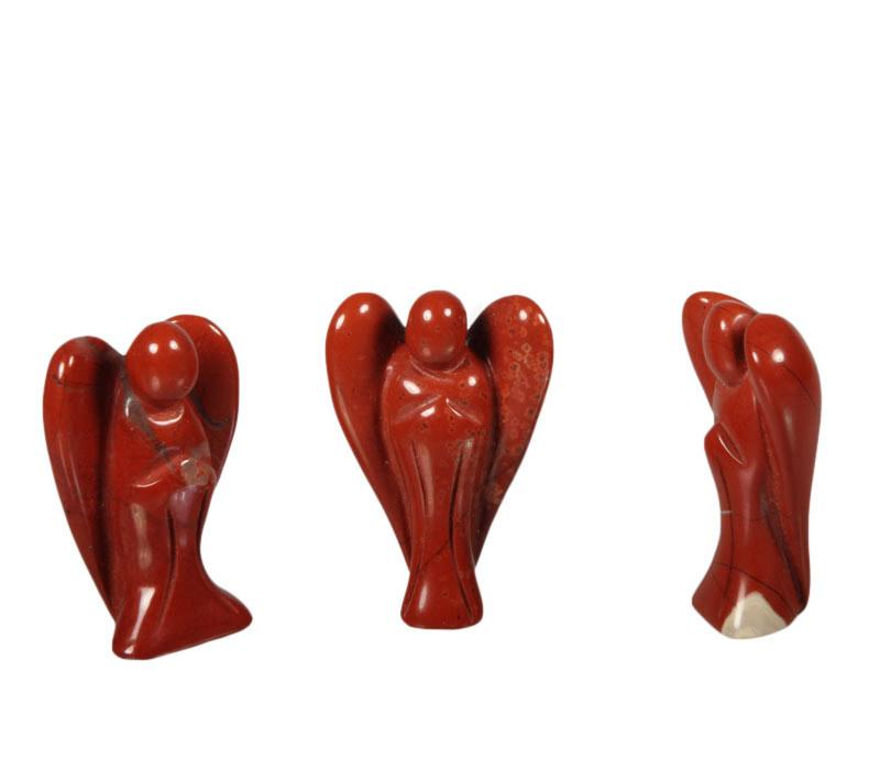 Jaspis  (rood) engel 3 - 3,5 cm