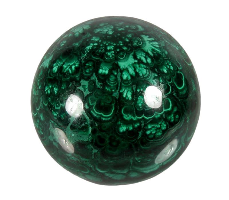 Malachiet edelsteen bol 48 mm / 256 gram