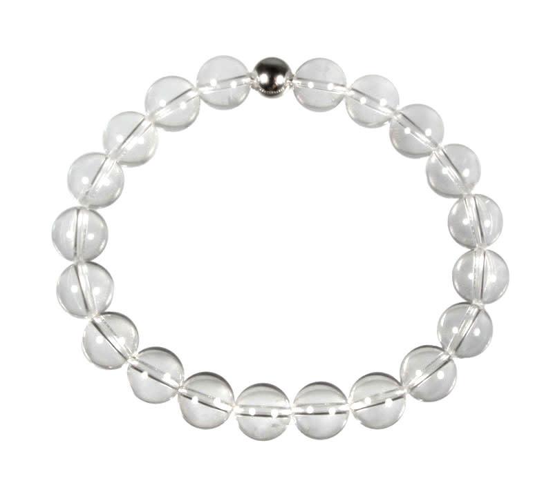 Bergkristal armband 20 cm | 10 mm kralen