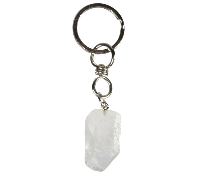 Bergkristal sleutelhanger ruw