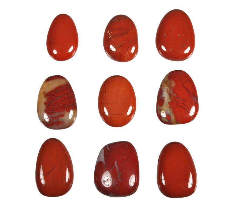 Jaspis (rood) hanger doorboord