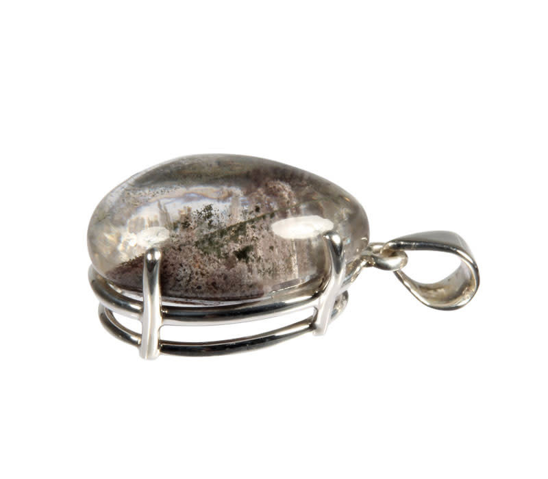 Zilveren hanger sjamaankwarts | gezet 2,5 x 1,7 cm